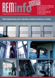Výtahy, dveře, brány a vrata - REM-Technik sro