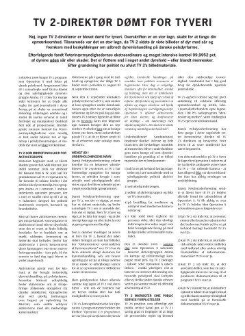 TV 2-DIREKT0R D0MT FOR TYVERI - Kommunikationsforum