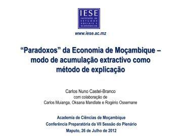 """www.iese.ac.mz """"Paradoxos"""" da Economia de Moçambique – modo ..."""