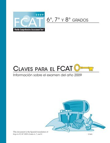 Spanish translation of Keys to FCAT 2009–Grades 6, 7, and 8.