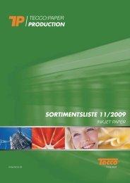 SORTIMENTSLISTE 11/2009 - Tecco