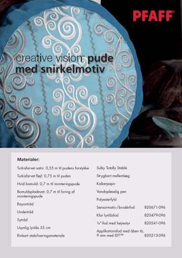 creative vision™ Scroll Cushion (pdf) - Pfaff
