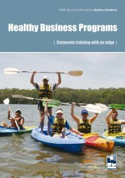 Healthy Business Program - NSW Sport and Recreation
