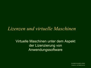 Vortrag - Medienkommission - Humboldt-Universität zu Berlin