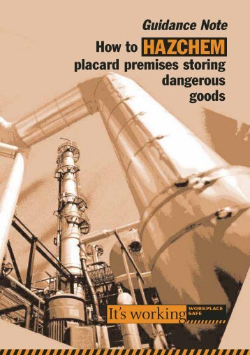 How to HAZCHEM placard premises storing dangerous goods