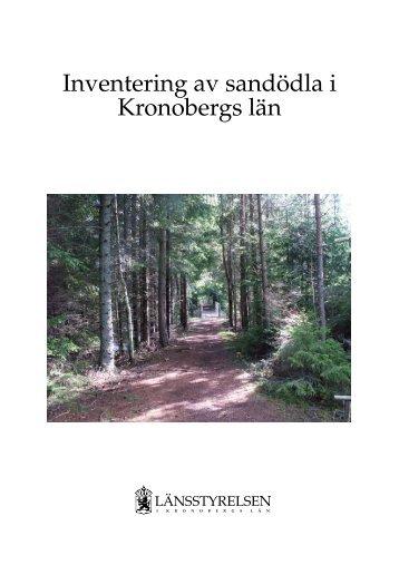Inventering av sandödla i Kronobergs län - Länsstyrelserna