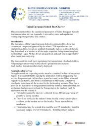 Taipei European School Bus Charter