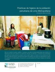 Prácticas de higiene de la población periurbana de Lima ... - SuSanA