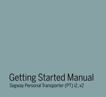 Getting Started Manual - Segway