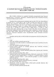 Záznam zo zasadnutia Správnej rady Technickej univerzity v ...