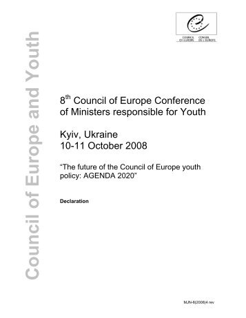 The future of the Council of Europe youth policy