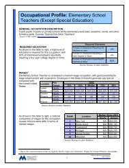 Occupational Profile: Elementary School - Maricopa Community ...
