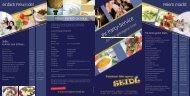 Sie können unseren Partyservice-Flyer mit einer Auswahl an ...