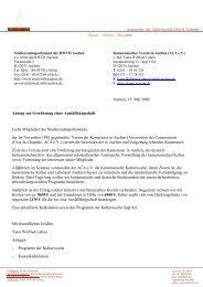 Antrag 57/28 Association des Camerounais d'Aix-la-Chapelle