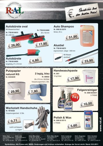 Alustiel Autobürste oval Auto Shampoo Autobürste Werkstatt ...