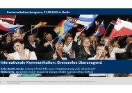 Kommunikationskongress, 27.09.2012 in Berlin
