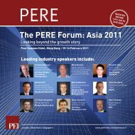 The PERE Forum: Asia 2011 - PEI Media
