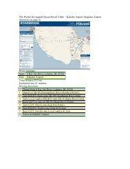 Airport Driving Directions - The Westin Ka'anapali Ocean Resort Villas