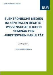 Elektronische Medien - Juristische Fakultät der Ruhr-Universität ...