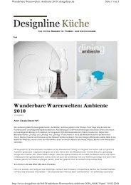 Wunderbare Warenwelten: Ambiente 2010