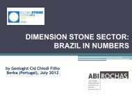 DIMENSION STONE SECTOR: BRAZIL IN NUMBERS