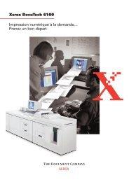 Xerox DocuTech 6100 Impression numérique à la demande ...