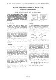 Chaotic oscillators design with preassigned spectral characteristics