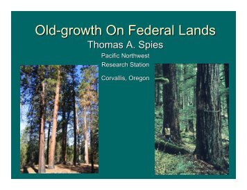 Old-growth On Federal Lands - State of Oregon