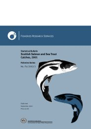 Scottish Salmon and Sea Trout Catches, 2001