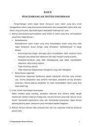 bab ii pengembangan sistem informasi
