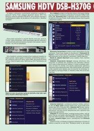 SAMSUNG HDTV DSB-H370G C - tv sat magazyn