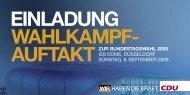 EINLADUNG WAHLKAMPF- AUFTAKTZUR ... - CDU Saar