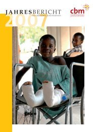 Jahresbericht 2007 - Christoffel-Blindenmission
