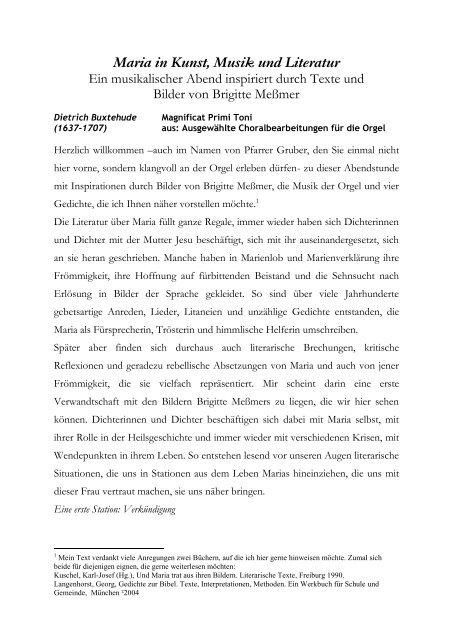 Gedichte Neuanfang Rilke Eichendorff 2019 10 09