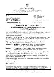 """""""Mentoren Kurs 33 treffen sich …"""" - Staatliches Seminar Albstadt"""
