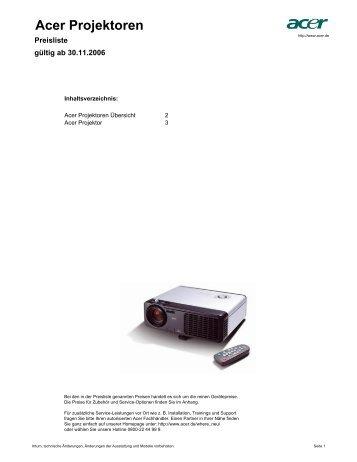 Acer Projektoren - Beamer-Discount