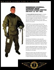 IMMERSION COVERALL, CONSTANT WEAR ... - Mustang Survival