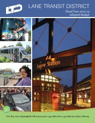 2012-2013 Adopted Budget - Lane Transit District