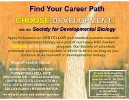 CHOOSE DEVELOPMENT! - Society for Developmental Biology