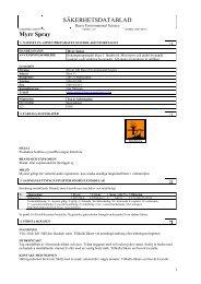 Säkerhetsdatablad (MSDS) (45.8 KB - pdf) - Jula