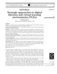 Strategic approaches to digital libraries and virtual ... - Emerald