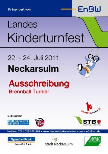 Ausschreibung Brennball Tunier - Landeskinderturnfest 2011