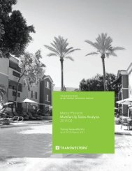 Metro Phoenix Multifamily Sales Analysis 2011Q1 - Transwestern