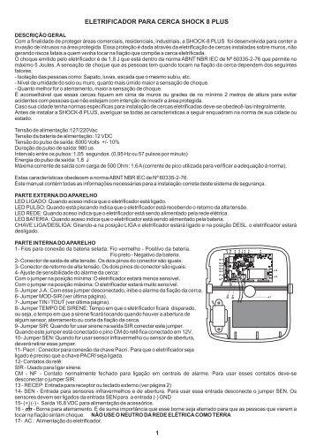 Manual do Produto - clique aqui para fazer o ... - Resincom.com.br
