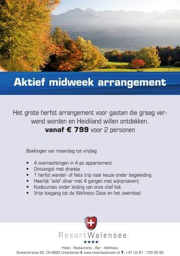 Aktief midweek arrangement - Resort Walensee