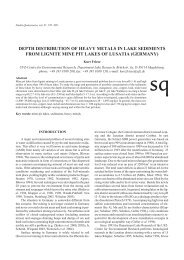depth distribution of heavy metals in lake sediments from lignite ...