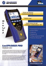 LanXPLORER PRO - Ideal Industries
