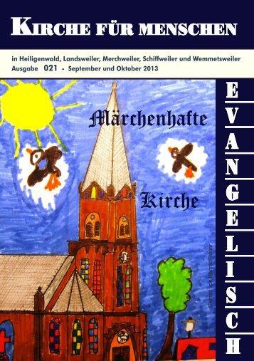 Aktueller Gemeindebrief - 021 - Landsweiler-Schiffweiler