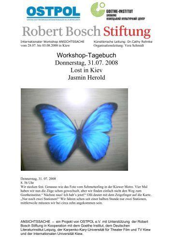 Workshop-Tagebuch Donnerstag, 31.07. 2008 Lost in ... - OSTPOL