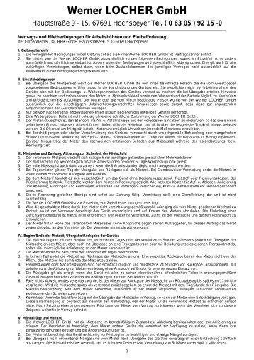 Tel. ( 0 63 05 ) 92 15 - Werner Locher GmbH